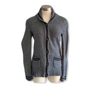 Roots Cabin Sweater Cardigan Wool Blend